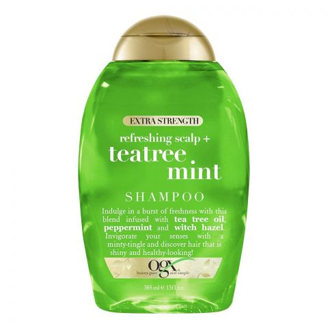 OGX Refreshing Scalp + Teatree Mint Shampoo, Sulfate Free, Extra Strenght, 385ml