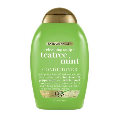 OGX Refreshing Scalp + Teatree Mint Conditioner, Sulfate Free, Extra Strength, 385ml