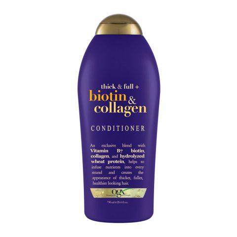 OGX Thick & Full + Biotin & Collagen Conditioner, Sulfate Free, 750ml