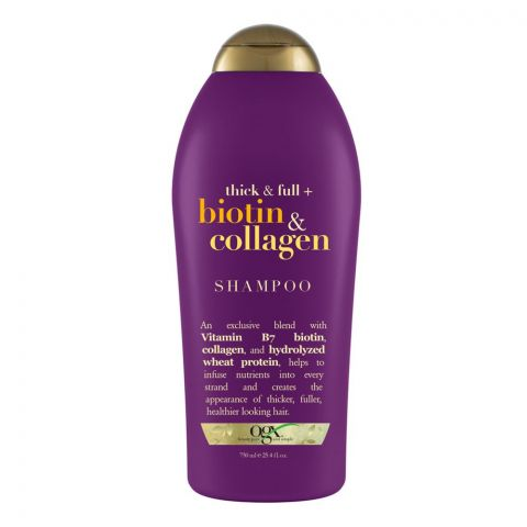 OGX Thick & Full + Biotin & Collagen Shampoo, Sulfate Free, 750ml