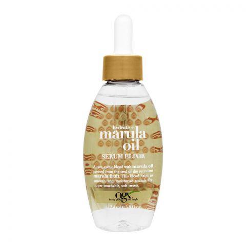 OGX Hydrate + Marula Oil Hair Serum Elixir, 112.4ml