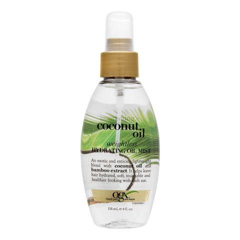 OGX Nourishing + Coconut Oil Weightless Hydrating Oil Hair Mist, 118ml