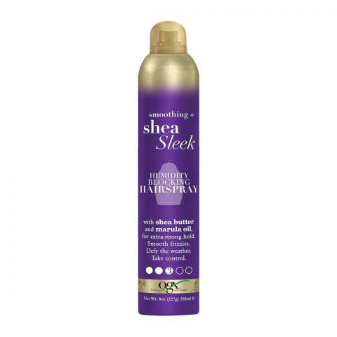 OGX Smoothing + Shea Sleek Humidity Blocking Hair Spray, No. 3, 268ml