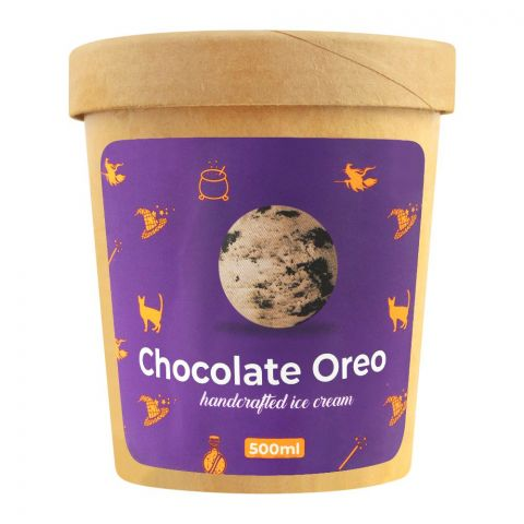 The Waffle Witch Chocolate Oreo Handcrafted Ice Cream, 500ml