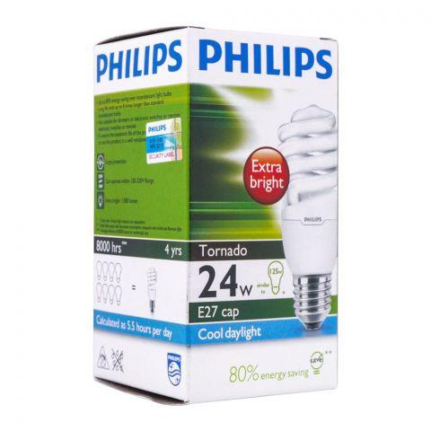 Philips Tornado Energy Saver Bulb, 24W, E27, Cool Daylight