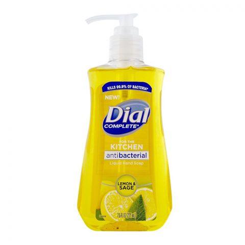 Dial Kitchen Antibacterial Hand Soap, Lemon & Sage, 221ml