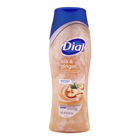 Dial Moisturizing Body Wash, Silk & Ginger, 473ml