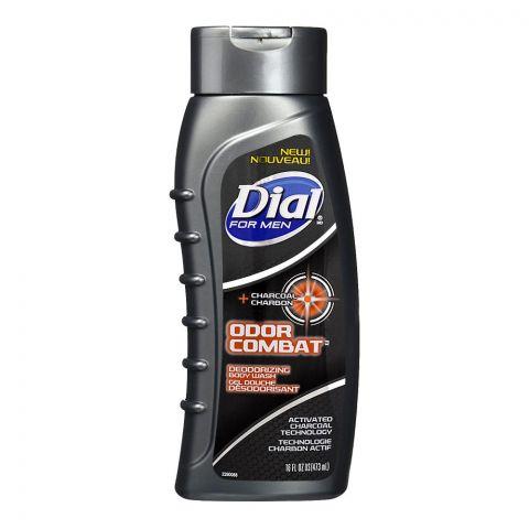Dial For Men Odor Combat Charcoal + Carbon Deodorizing Body Wash, 473ml