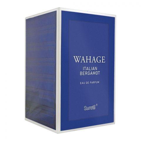 Surrati Wahage Italian Bergamot Eau De Parfum, Fragrance For Men, 100ml