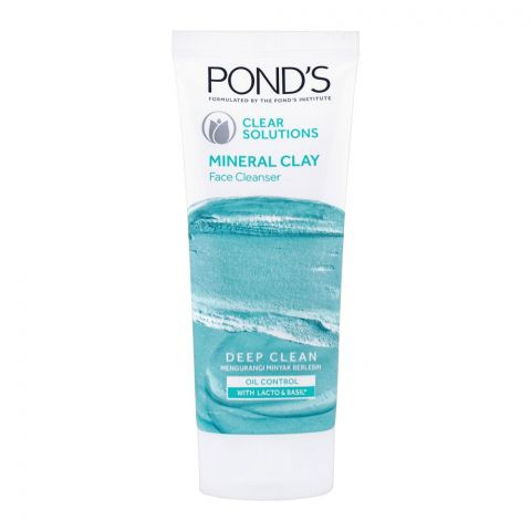 Pond's Clear Solutions Mineral Clay Deep Clean Face Cleanser, 90g