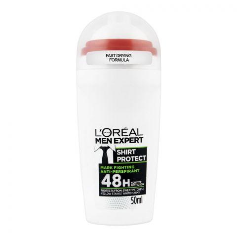 L'Oreal Paris Men Expert Shirt Protect 48H Anti Perspirant Roll-On Deodorant, 50ml
