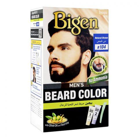 Bigen Men's Beard Colour, Natural Brown B104