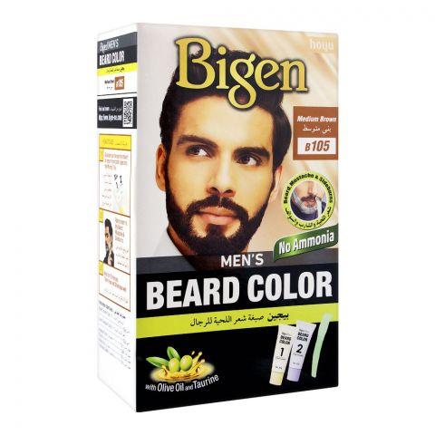 Bigen Men's Beard Colour, Medium Brown B105
