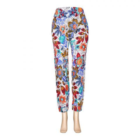 Basix Women's Linen Pajama, Multi Shaded Flower Forest, 111