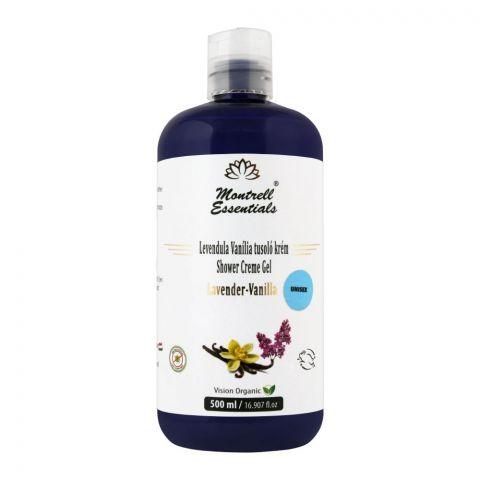 Montrell Essentials Lavender-Vanilla Unisex Shower Creme Gel, 500ml