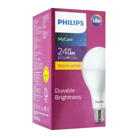 Philips Mycare LED Bulb 24W, E27m Warm White