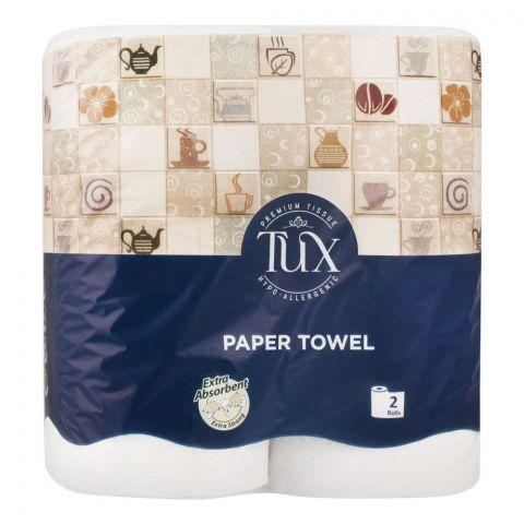 Tux Premium Paper Towel Tissues Rolls, 2-Pack