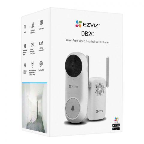 Ezviz Wire-Free Video Doorbell With Chime Camera, WiFi, DB2C