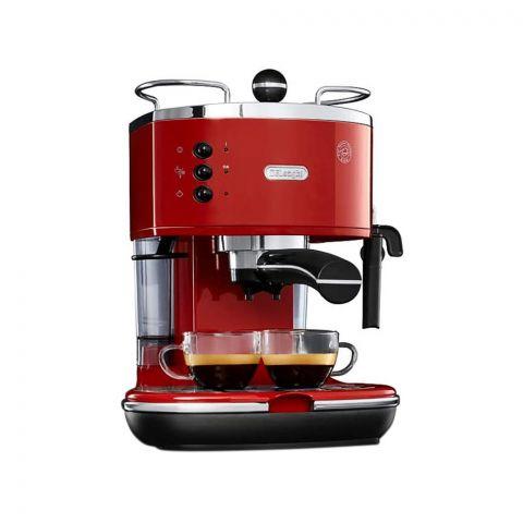 DeLonghi Icona Espresso And Cappuccino Coffee Maker, Red, ECO311.R