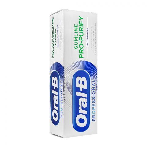 Oral-B Gumline Pro-Purify Gentle Whitening Toothpaste, 75ml