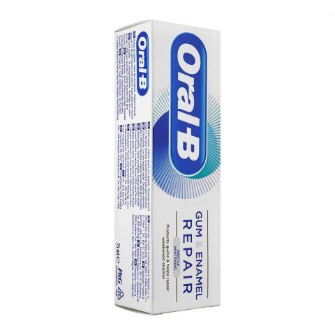 Oral-B Gum & Enamel Repair Gentle Whitening Toothpaste, 75ml