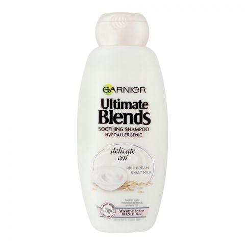 Garnier Ultimate Blends Delicate Oat Rice Cream & Oat Milk Shampoo, Sensitive Scalp And Fragile Hair, 360ml