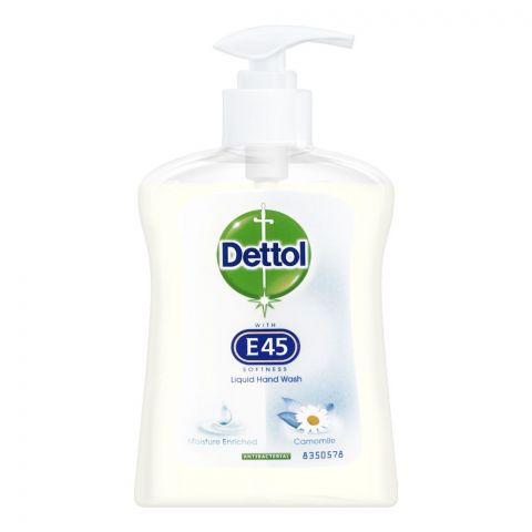 Dettol E45 Camomile Moisture Enriched Hand Wash, UK, 250ml