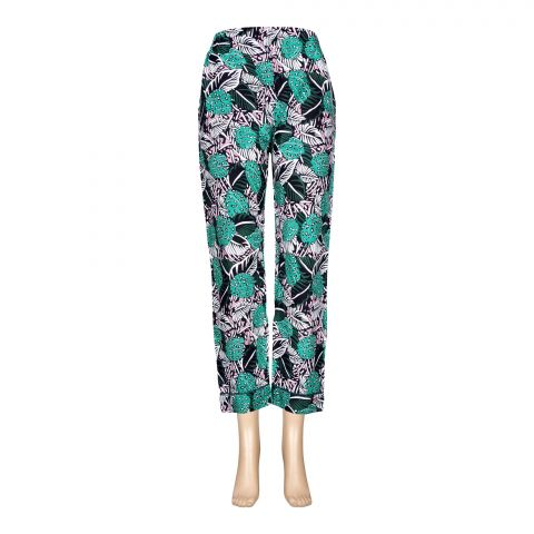 Basix Women's Linen Pajama, Multi Shades Of Forest Green, 116