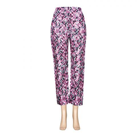 Basix Women's Linen Pajama, Pick Black Grey Abstract Pattern, 113