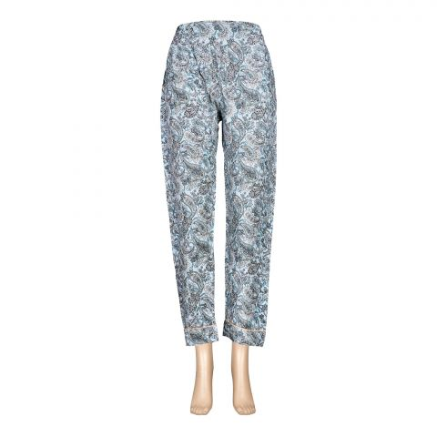 Basix Women's Linen Pajama, Arctic Blue Kairee, 115