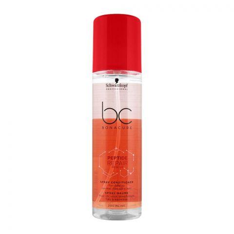Schwarzkopf BC Bonacure Peptide Repair Rescue Spray Conditioner, Fine To Normal Damaged Hair, 200ml