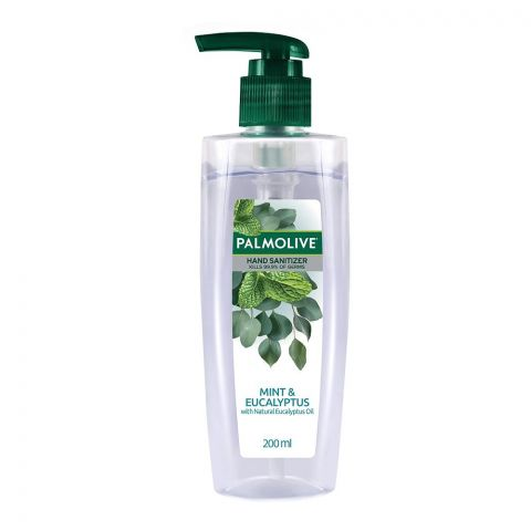 Palmolive Mint & Eucalyptus With Natural Eucalyptus Oil Hand Sanitizer, 200ml