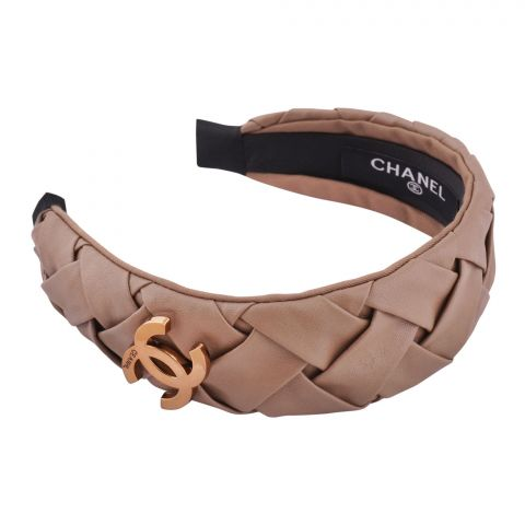 Chanel Style Hair Band, Brown, AB-07