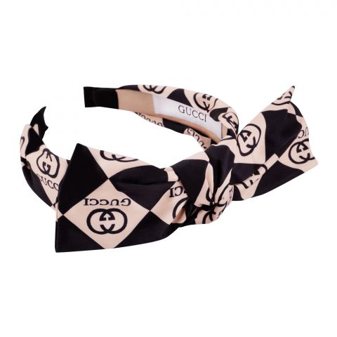 Chanel Style Hair Band, Black Gold, AB-11