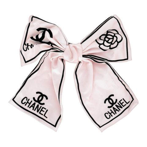 Chanel Style Hair Clip, Off-White, AB-38