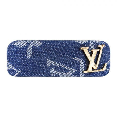 LV Style Hair Clip, Denim Blue, AB-41