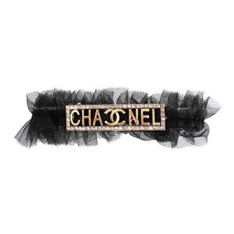 Chanel Style Hair Clip, Black, AB-42