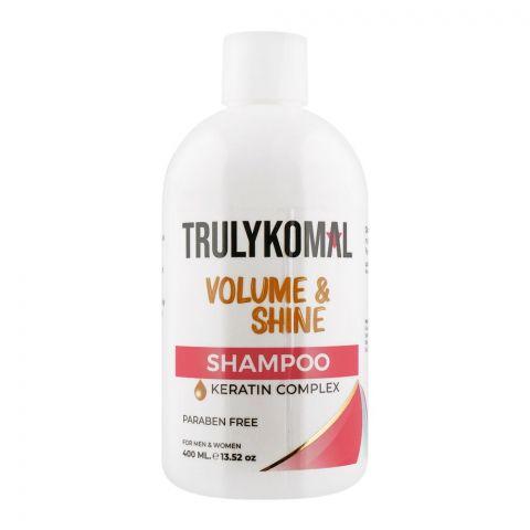 Truly Komal Volume & Shine Keratin Complex Shampoo, Paraben Free, 400ml