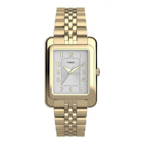 Timex Women's Addison 25mm Stainless Steel Bracelet Watch, Golden Tone, TW2U14300