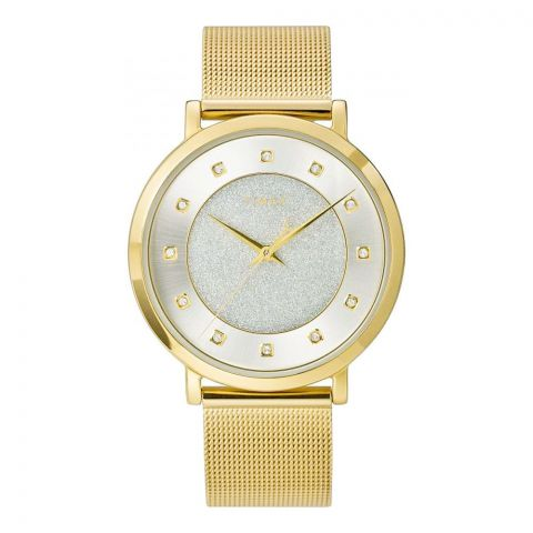 Timex Women's City Collection Stainless Steel Watch, Golden, TW2U67100