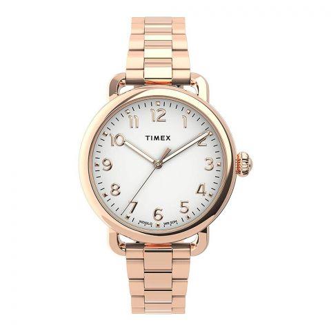 Timex Women's Standard Stainless Steel 34mm Watch, Golden, TW2U14000