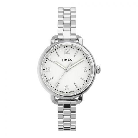 Timex Women's Standard Demi 32mm Stainless Steel Bracelet Watch, Silver, TW2U60300