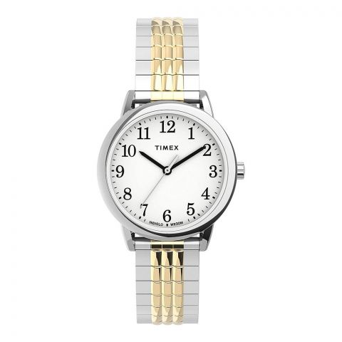 Timex Women's Easy Reader 30mm Perfect Fit Two-Tone Watch, TW2U08500