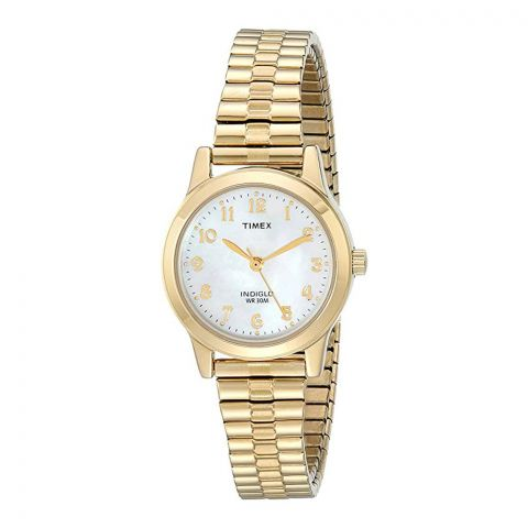 Timex Women's Essex Avenue Stainless Steel 25mm Watch, Golden, T2M827