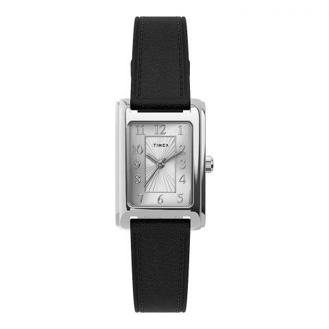 Timex Women's Meriden 21mm Black Leather Strap Watch, TW2U06200