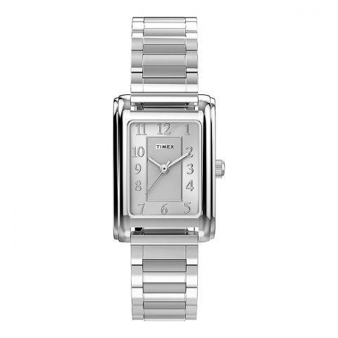 Timex Women's Meriden 21mm Stainless Steel Strap Watch, TW2U44100