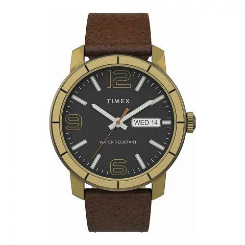 Timex Men's 44mm Mod 44 Leather Strap Watch, TW2T72700