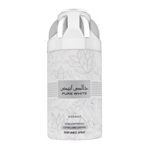 Asdaaf Pure White Extra Long Lasting Perfumed Body Spray, 200ml