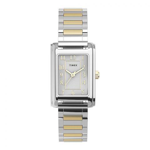 Timex Women's Meriden Stainless Steel 21mm Watch, Two-Tone, TW2U44200