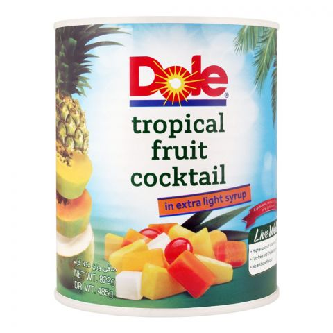 Dole Tropical Fruit Cocktail, In Extra Light Syrup, 822g